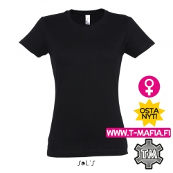 T-Paita Musta Lady