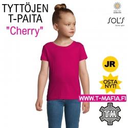 T-Paita Pinkki/Fuksia Tytölle