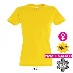 T-Paita Kulta/Keltainen Lady