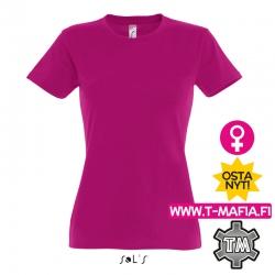 T-Paita Pinkki/Fuksia Lady