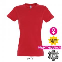 T-Paita Punainen Lady